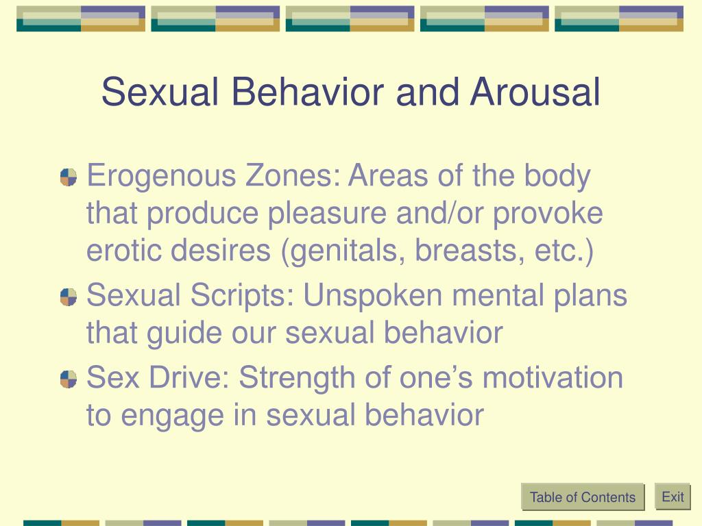 Sexual Behavior and Arousal