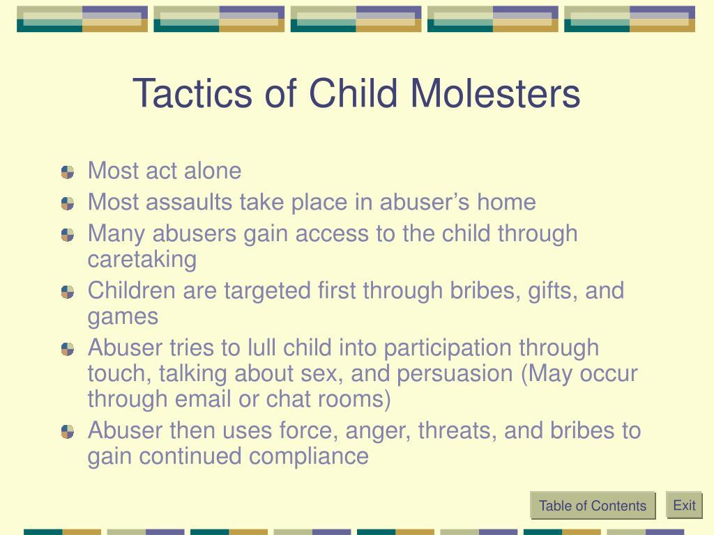 Tactics of Child Molesters