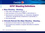 isth bleeding definitions