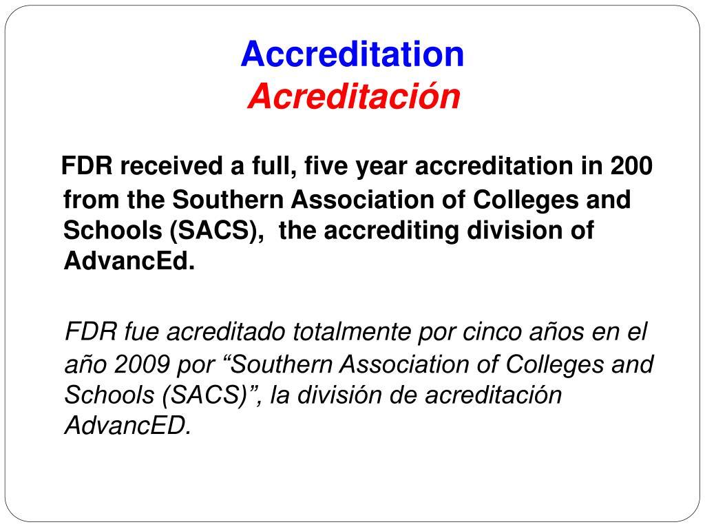 Accreditation