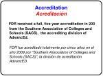 accreditation acreditaci n