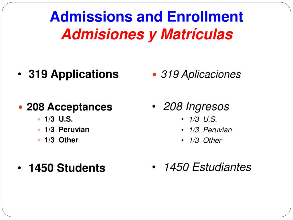 Admissions and Enrollment