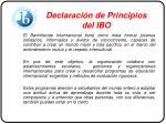 declaraci n de principios del ibo