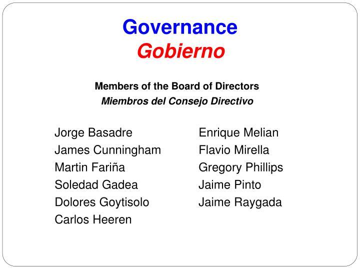 Governance gobierno