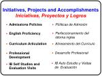 initiatives projects and accomplishments iniciativas proyectos y logros