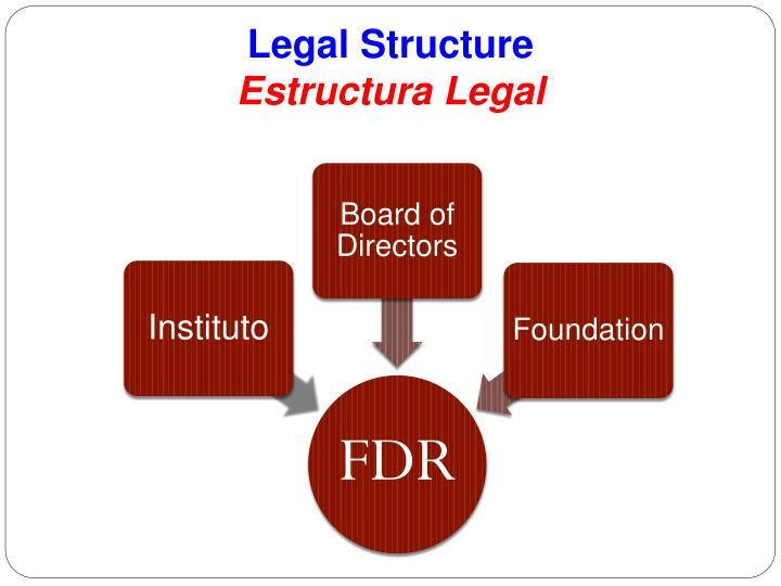 Legal structure estructura legal