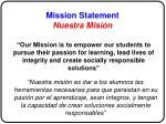 mission statement nuestra misi n