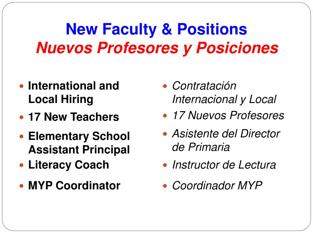 New Faculty & Positions