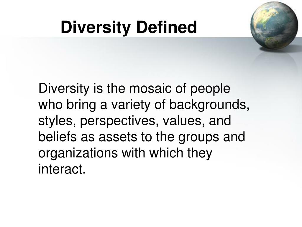Diversity Defined