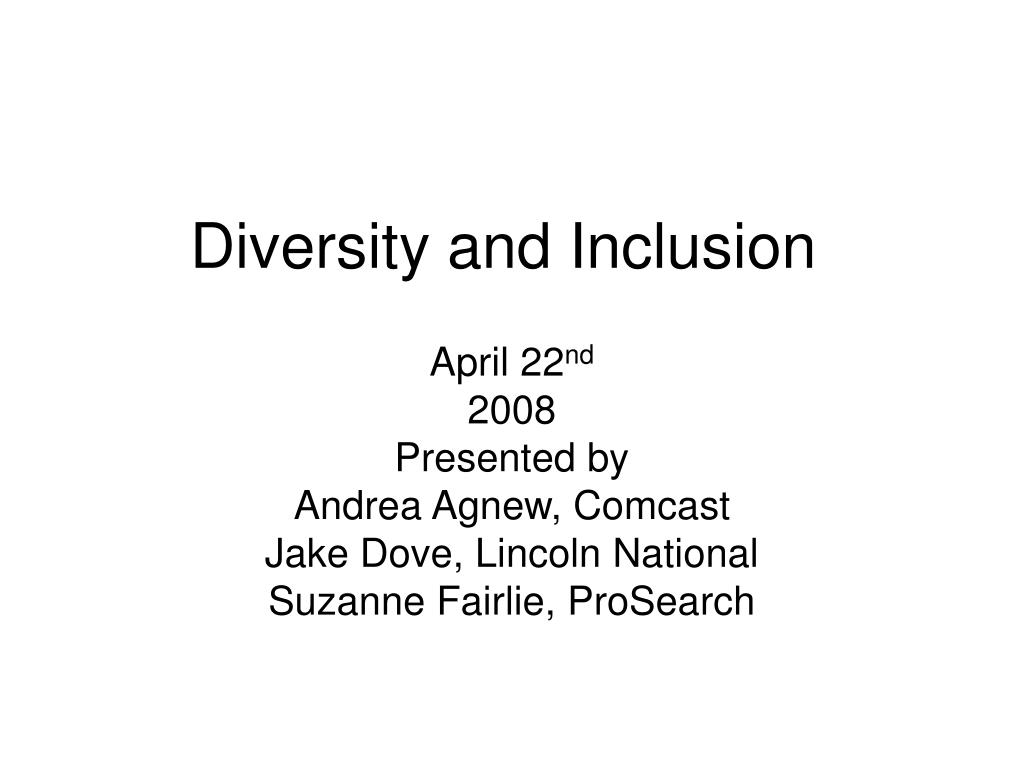 diversity and inclusion l.