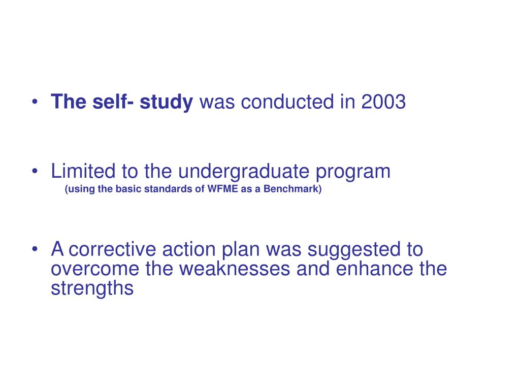 The self- study