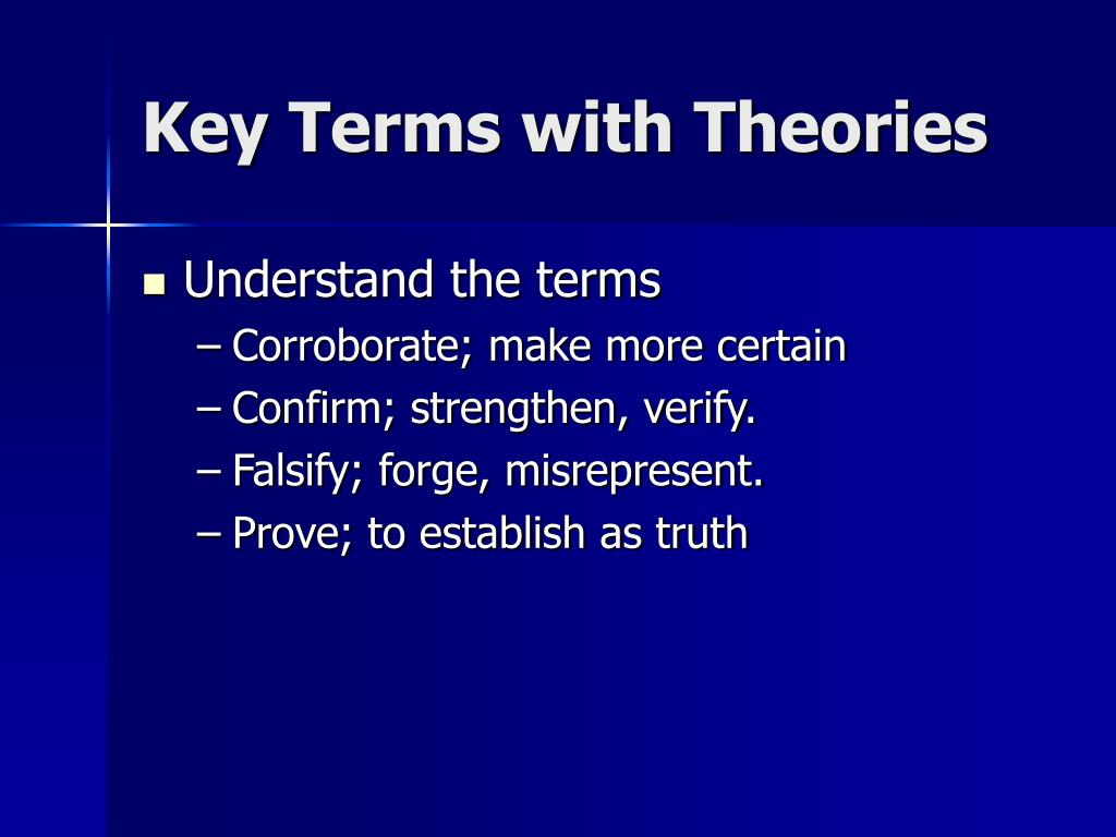 Key Terms with Theories
