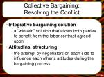collective bargaining resolving the conflict1