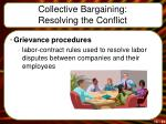 collective bargaining resolving the conflict2