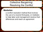 collective bargaining resolving the conflict3