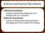 external and internal recruitment
