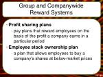 group and companywide reward systems