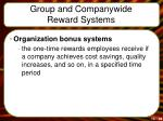group and companywide reward systems1