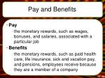 pay and benefits