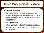 union management relations