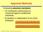 appraisal methods12