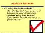 appraisal methods14