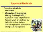 appraisal methods16