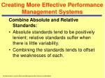 creating more effective performance management systems29