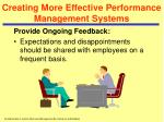 creating more effective performance management systems30