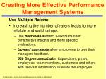 creating more effective performance management systems31
