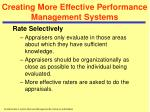 creating more effective performance management systems32