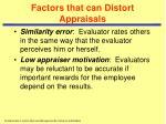 factors that can distort appraisals24