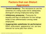 factors that can distort appraisals25