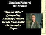 librarians portrayed on television61
