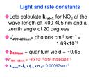 light and rate constants78