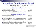 appraiser qualifications board required core curriculum