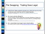 file swapping trading goes legal