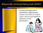 behaviorally anchored rating scale bars