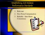 establishing job related performance standards