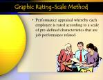 graphic rating scale method
