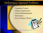 performance appraisal problems