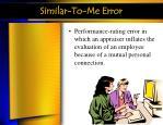 similar to me error