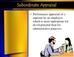 subordinate appraisal