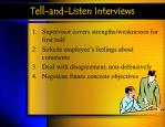 tell and listen interviews