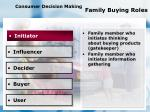 consumer decision making family buying roles