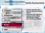 consumer decision making family buying roles96
