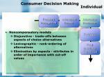 consumer decision making individual90