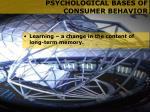 psychological bases of consumer behavior8