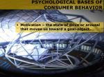 psychological bases of consumer behavior9