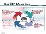 cisco ios ip slas life cycle
